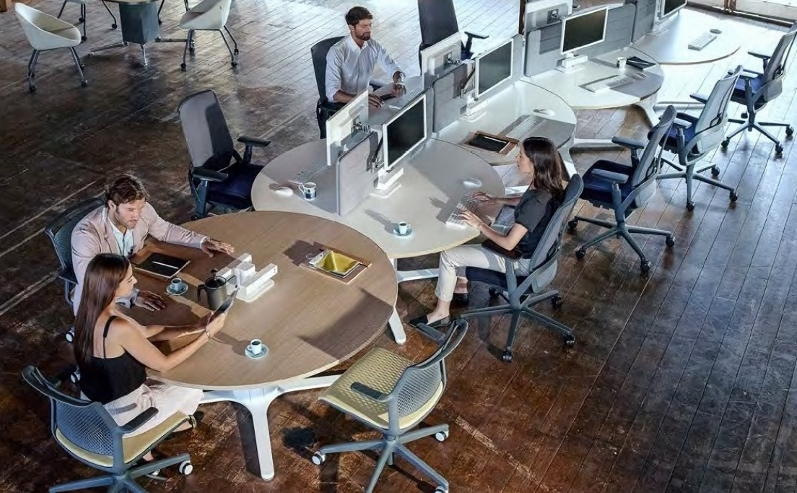 Orb desks in office situation